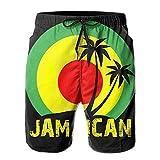Jhonangel Traje de baño Reggae Color jamaicano Pantalones Cortos de Secado rápido para Hombres de Jamaica Trajes de baño Traje de baño Voleibol Troncos de Playa XL