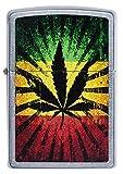 Zippo Mechero con diseño de Hojas, Rastafari Rasta Colores Unisex, Regular