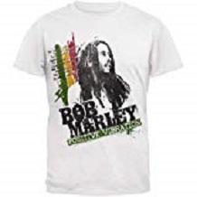 camiseta bob marley hombre blanca