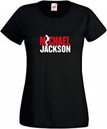 camiseta michael jackson mujer algodón