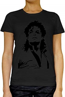 camiseta michael jackson mujer