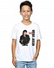 camiseta michael jackson niño blanca