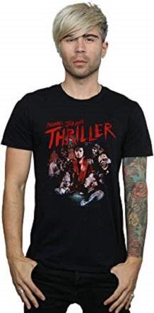camiseta negra thriller