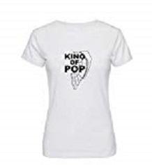 king of pop mujer camiseta michael jackson