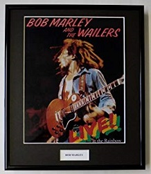 foto bob marley color con guitarra