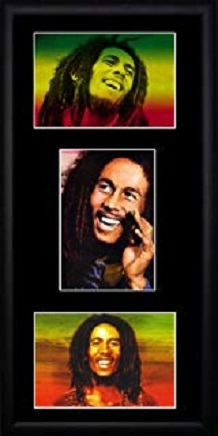 tres fotos color bob marley