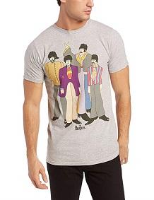 camiseta beatles hombre gris