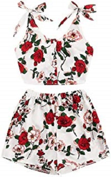 traje casual flores pin up