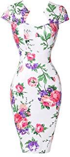 vestido tubo estilo pin up retro flores