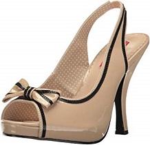zapato vintage camel