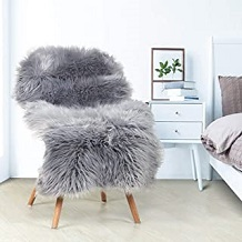 decoracion marilyn habitacion alfombra borrego gris